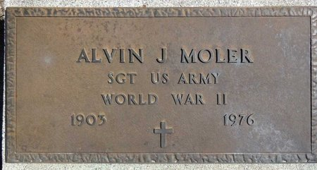 MOLER, ALVIN - Pennington County, South Dakota | ALVIN MOLER - South Dakota Gravestone Photos