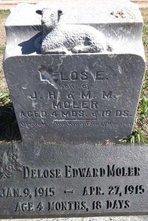 MOLER, DELOSE - Pennington County, South Dakota | DELOSE MOLER - South Dakota Gravestone Photos