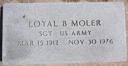 MOLER, LOYAL - Pennington County, South Dakota | LOYAL MOLER - South Dakota Gravestone Photos