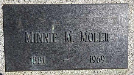MOLER, MINNIE - Pennington County, South Dakota   MINNIE MOLER - South Dakota Gravestone Photos