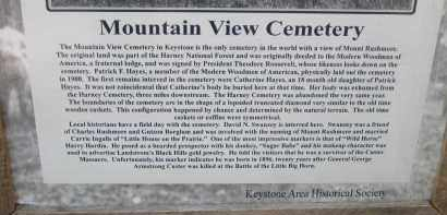 *MOUNTAIN VIEW CEMETERY, SIGN AT GATE - HISTORICAL - Pennington County, South Dakota | SIGN AT GATE - HISTORICAL *MOUNTAIN VIEW CEMETERY - South Dakota Gravestone Photos