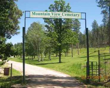 *MOUNTAIN VIEW CEMETERY, VIEW OF GATE - Pennington County, South Dakota | VIEW OF GATE *MOUNTAIN VIEW CEMETERY - South Dakota Gravestone Photos