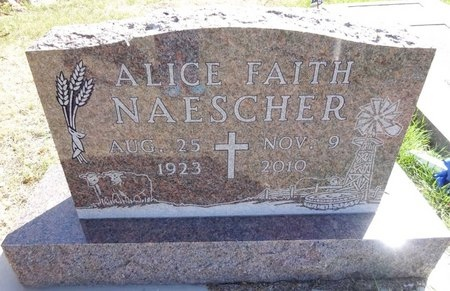 WHITCHER NAESCHER, ALICE FAITH - Pennington County, South Dakota   ALICE FAITH WHITCHER NAESCHER - South Dakota Gravestone Photos