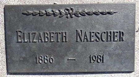 NAESCHER, ELIZABETH - Pennington County, South Dakota | ELIZABETH NAESCHER - South Dakota Gravestone Photos