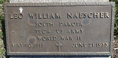 NAESCHER, LEO WILLIAM - Pennington County, South Dakota | LEO WILLIAM NAESCHER - South Dakota Gravestone Photos