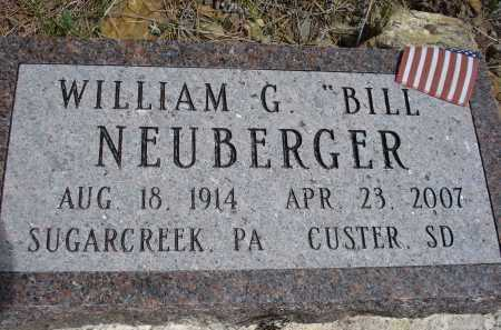 "NEUBERGER, WILLIAM G. ""BILL"" - Pennington County, South Dakota | WILLIAM G. ""BILL"" NEUBERGER - South Dakota Gravestone Photos"