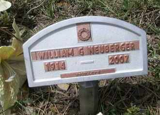 NEUBERGER, WILLIAM G. - Pennington County, South Dakota   WILLIAM G. NEUBERGER - South Dakota Gravestone Photos
