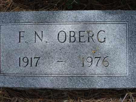 OBERG, F.N. - Pennington County, South Dakota   F.N. OBERG - South Dakota Gravestone Photos