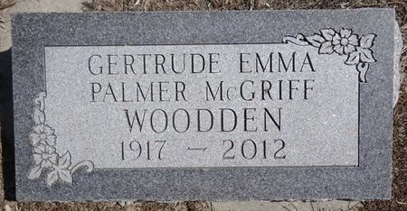 DOUGHTY PALMER MCGRIFF WOODDEN, GERTRUDE - Pennington County, South Dakota | GERTRUDE DOUGHTY PALMER MCGRIFF WOODDEN - South Dakota Gravestone Photos