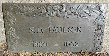 PAULSEN, N.D. - Pennington County, South Dakota | N.D. PAULSEN - South Dakota Gravestone Photos