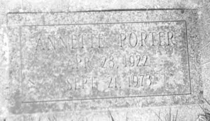 JOHNSON PORTER, ANNETTE - Pennington County, South Dakota | ANNETTE JOHNSON PORTER - South Dakota Gravestone Photos