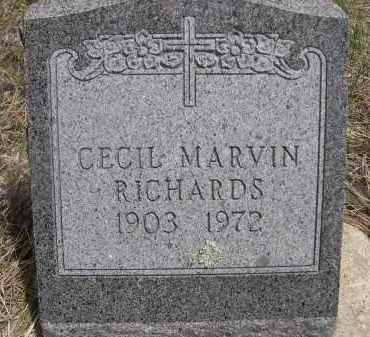 RICHARDS, CECIL MARVIN - Pennington County, South Dakota | CECIL MARVIN RICHARDS - South Dakota Gravestone Photos