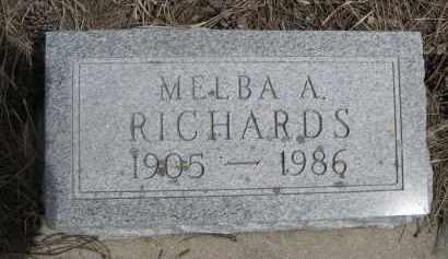 RICHARDS, MELBA A. - Pennington County, South Dakota | MELBA A. RICHARDS - South Dakota Gravestone Photos