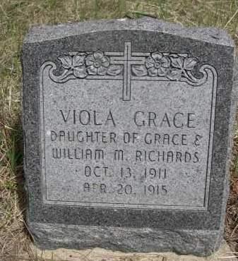 RICHARDS, VIOLA GRACE - Pennington County, South Dakota | VIOLA GRACE RICHARDS - South Dakota Gravestone Photos