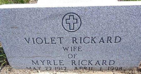 REHDER RICKARD, VIOLET - Pennington County, South Dakota   VIOLET REHDER RICKARD - South Dakota Gravestone Photos