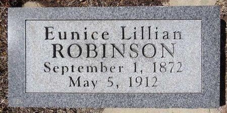 ROBINSON, EUNICE LILLIAN - Pennington County, South Dakota   EUNICE LILLIAN ROBINSON - South Dakota Gravestone Photos