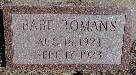 ROMANS, BABE - Pennington County, South Dakota | BABE ROMANS - South Dakota Gravestone Photos