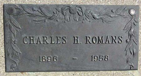 ROMANS, CHARLES - Pennington County, South Dakota   CHARLES ROMANS - South Dakota Gravestone Photos