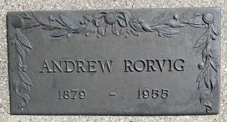 RORVIG, ANDREW - Pennington County, South Dakota | ANDREW RORVIG - South Dakota Gravestone Photos