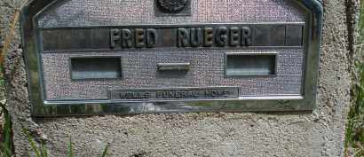 RUEGER, FRED - Pennington County, South Dakota | FRED RUEGER - South Dakota Gravestone Photos