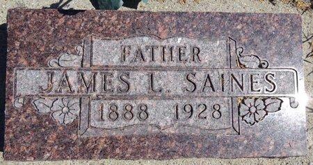 SAINES, JAMES - Pennington County, South Dakota | JAMES SAINES - South Dakota Gravestone Photos