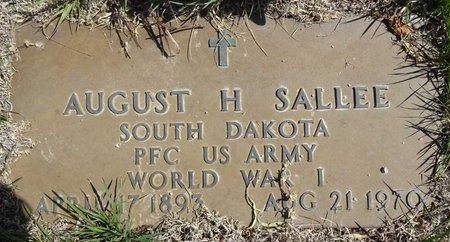 SALLEE, AUGUST - Pennington County, South Dakota | AUGUST SALLEE - South Dakota Gravestone Photos