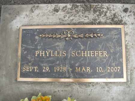 SCHIEFER, PHYLISS - Pennington County, South Dakota | PHYLISS SCHIEFER - South Dakota Gravestone Photos