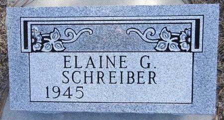 SCHREIBER, ELAINE - Pennington County, South Dakota   ELAINE SCHREIBER - South Dakota Gravestone Photos