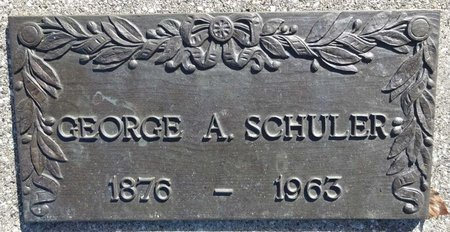 SCHULER, GEORGE - Pennington County, South Dakota | GEORGE SCHULER - South Dakota Gravestone Photos