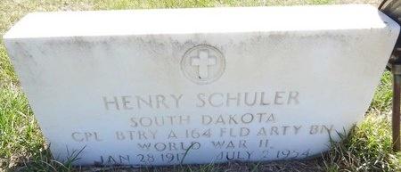 SCHULER, HENRY - Pennington County, South Dakota | HENRY SCHULER - South Dakota Gravestone Photos