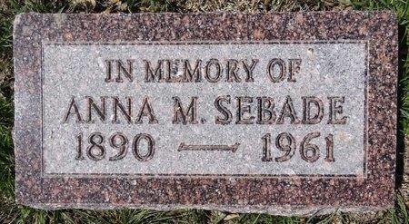 SEBADE, ANNA - Pennington County, South Dakota | ANNA SEBADE - South Dakota Gravestone Photos