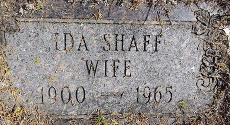 SHAFF, IDA - Pennington County, South Dakota | IDA SHAFF - South Dakota Gravestone Photos