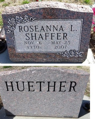 SHAFFER, ROSEANNA - Pennington County, South Dakota | ROSEANNA SHAFFER - South Dakota Gravestone Photos