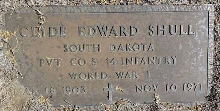 SHULL, CLYDE EDWARD - Pennington County, South Dakota | CLYDE EDWARD SHULL - South Dakota Gravestone Photos