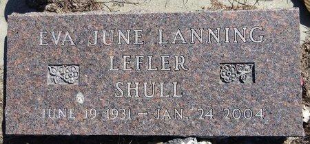 LANNING SHULL LEFLER, EVA JUNE - Pennington County, South Dakota | EVA JUNE LANNING SHULL LEFLER - South Dakota Gravestone Photos
