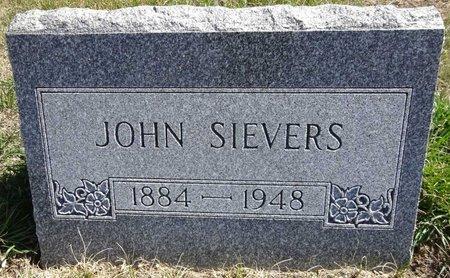 SIEVERS, JOHN - Pennington County, South Dakota | JOHN SIEVERS - South Dakota Gravestone Photos