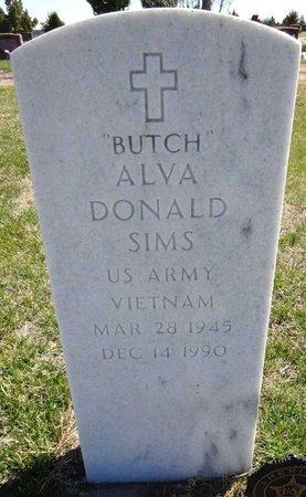 """SIMS, ALVA DONALD """"BUTCH"""" - Pennington County, South Dakota   ALVA DONALD """"BUTCH"""" SIMS - South Dakota Gravestone Photos"""