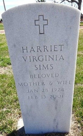 SIMS, HARRIET VIRGINIA - Pennington County, South Dakota | HARRIET VIRGINIA SIMS - South Dakota Gravestone Photos