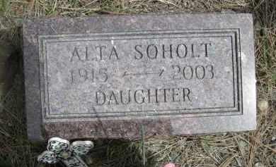 SOHOLT, ALTA - Pennington County, South Dakota   ALTA SOHOLT - South Dakota Gravestone Photos