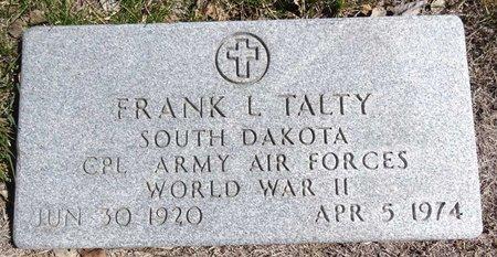TALTY, FRANK - Pennington County, South Dakota | FRANK TALTY - South Dakota Gravestone Photos