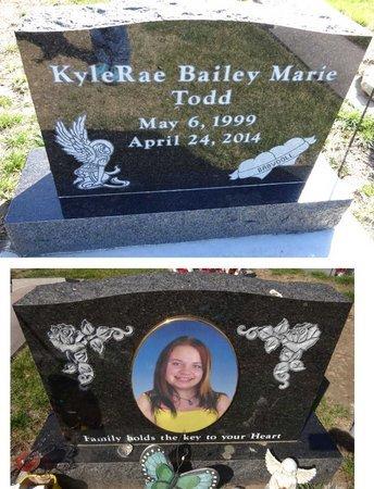 TODD, KYLERAE BAILEY MARIE - Pennington County, South Dakota | KYLERAE BAILEY MARIE TODD - South Dakota Gravestone Photos