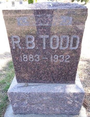 TODD, R.B. - Pennington County, South Dakota | R.B. TODD - South Dakota Gravestone Photos