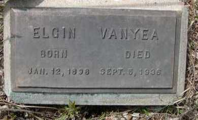 VANYEA, ELGIN - Pennington County, South Dakota | ELGIN VANYEA - South Dakota Gravestone Photos