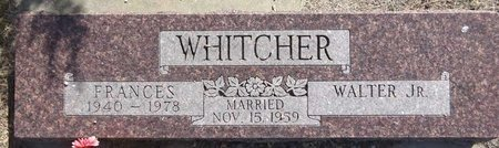 WHITCHER, WALTER - Pennington County, South Dakota | WALTER WHITCHER - South Dakota Gravestone Photos