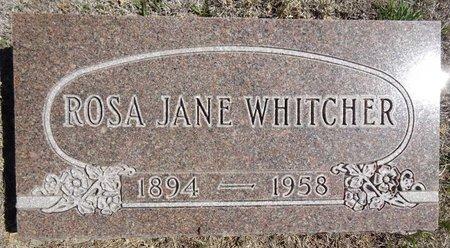 WHITCHER, ROSA JANE - Pennington County, South Dakota | ROSA JANE WHITCHER - South Dakota Gravestone Photos