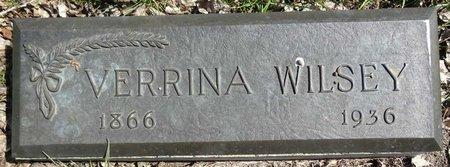 WILSEY, VERRINA - Pennington County, South Dakota   VERRINA WILSEY - South Dakota Gravestone Photos