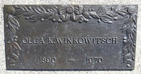 WINKOWITSCH, OLGA - Pennington County, South Dakota | OLGA WINKOWITSCH - South Dakota Gravestone Photos