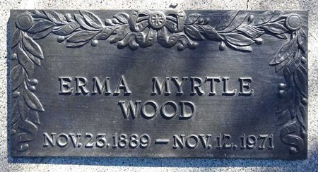 WOOD, ERMA MYRTLE - Pennington County, South Dakota | ERMA MYRTLE WOOD - South Dakota Gravestone Photos