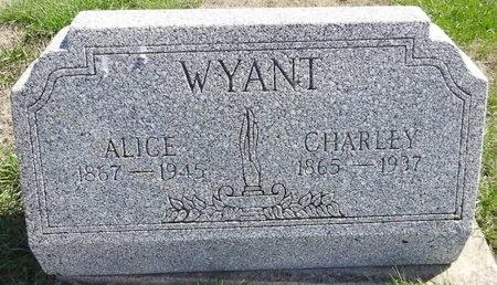 WYANT, CHARLEY - Pennington County, South Dakota | CHARLEY WYANT - South Dakota Gravestone Photos