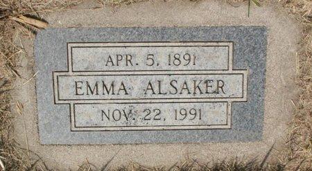 ALSAKER, EMMA - Roberts County, South Dakota | EMMA ALSAKER - South Dakota Gravestone Photos